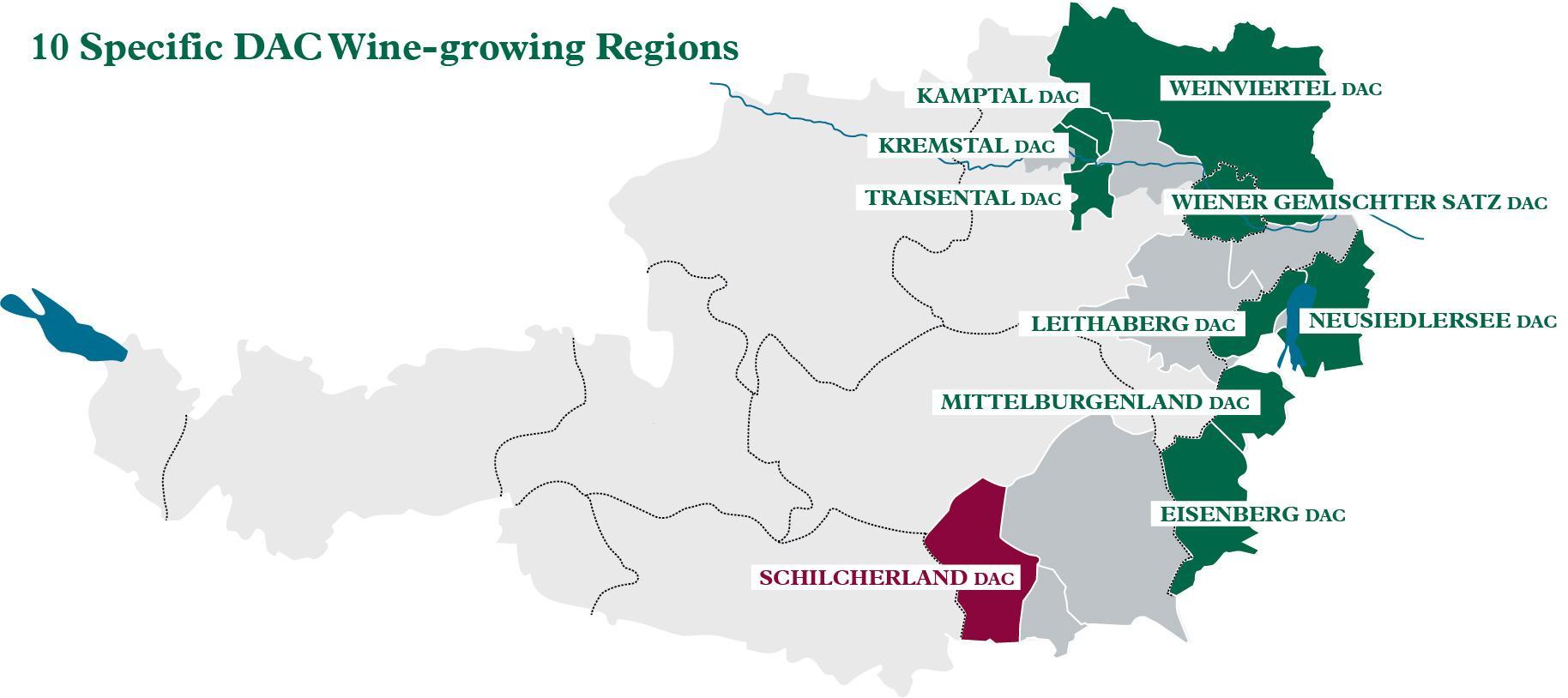 Ausztria Boraszati Terkep Osztrak Bor Regiok Terkep Nyugat