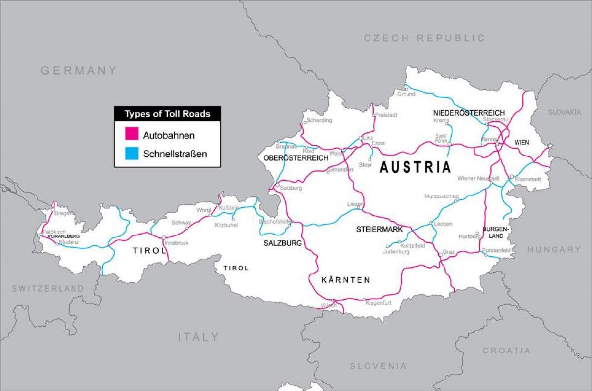 Ausztria Utdij Terkep Utdijas Utak Ausztria Terkep Megjelenitese
