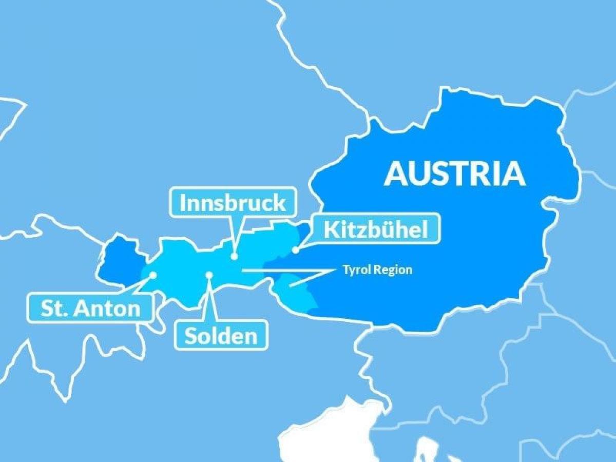 Terkep Tiroli Regio Ausztria Terkep Terkep Tiroli Regio Ausztria