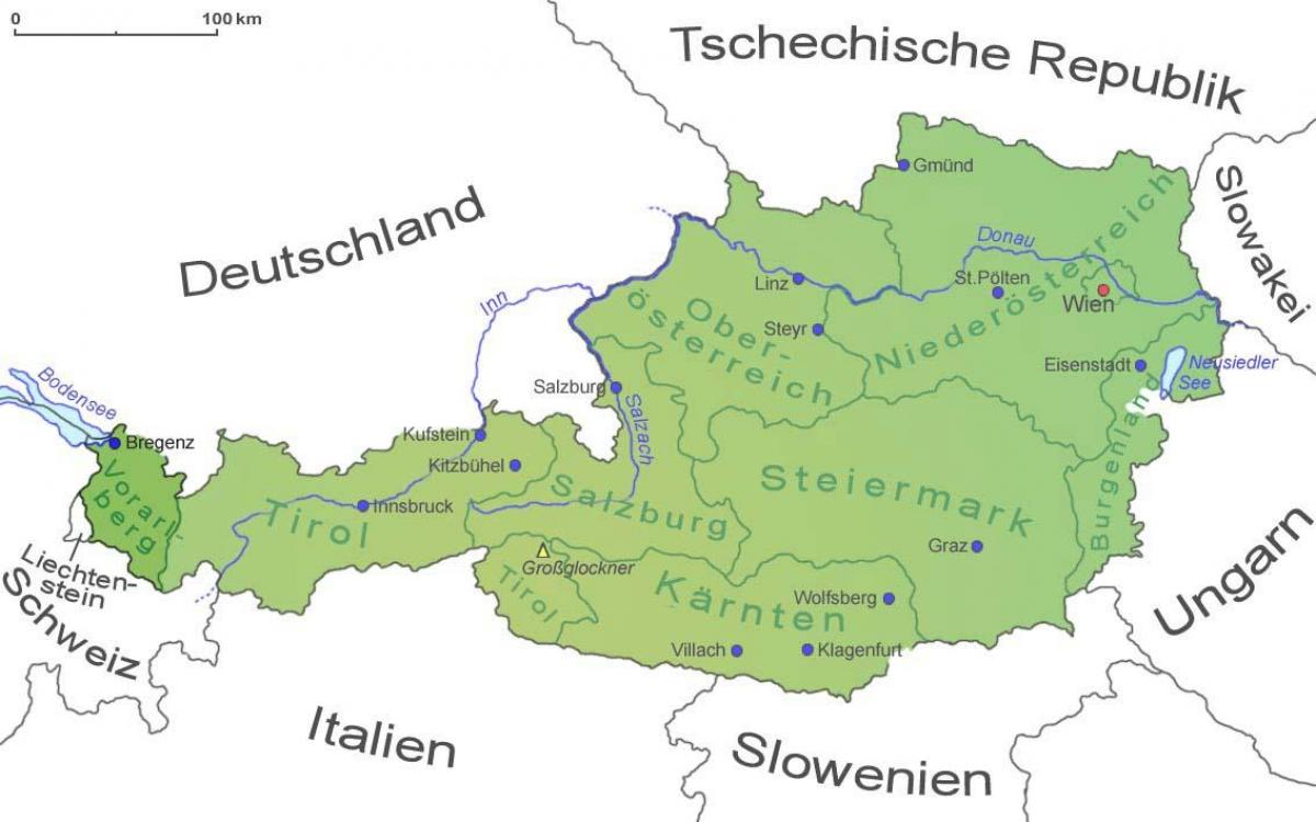 Vorarlberg Ausztria Terkep Terkep Vorarlberg Ausztria Nyugat