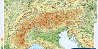 Ausztria Topografiai Terkep Terkep Ausztria Topografiai Nyugat