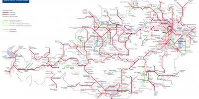 Ausztria Vonat Terkep Obb Osztrak Vasuti Terkepe Nyugat